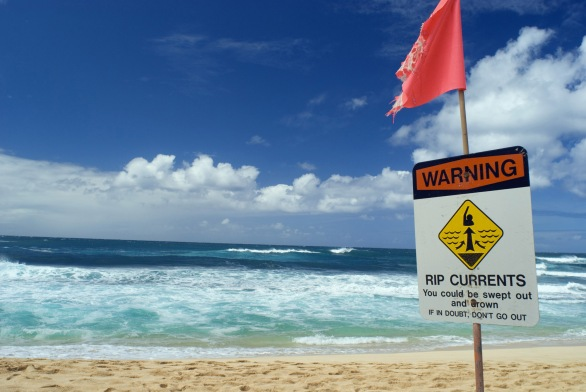 Rip Current warning notice